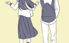 校园动漫图片情侣