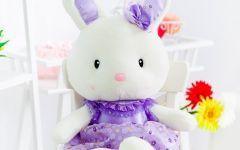 小兔子情侣图片