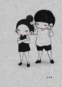幸福卡通图片带字情侣