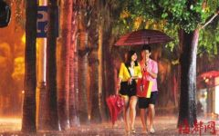 雨中漫步图片情侣