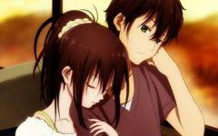 动漫情侣亲吻拥抱图片