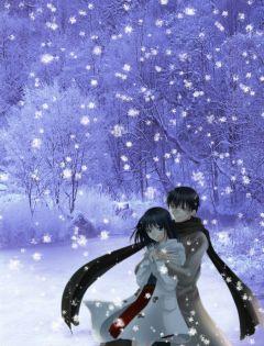 雪地情侣浪漫图片大全
