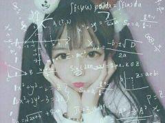 qq头像带数学公式女生