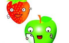 水果苹果可爱图片
