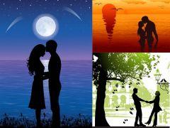 情侣海滩浪漫图片