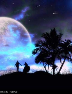 浪漫图片情侣星空