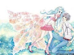 情侣接吻浪漫图片古风