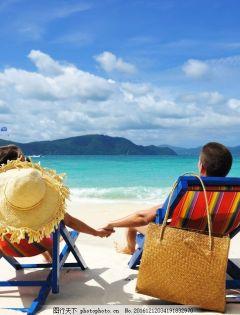 情侣海滩浪漫图片大全