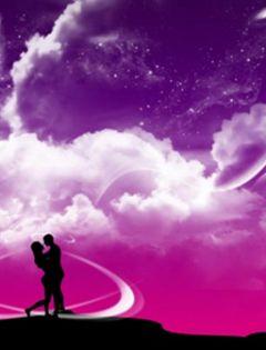 浪漫图片星空情侣唯美梦幻