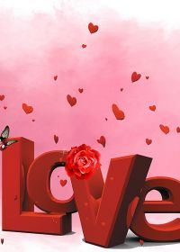 甜蜜爱情图片带字