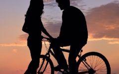 骑车浪漫图片大全