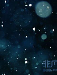 晚上下雪浪漫图片
