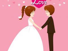 结婚图片大全浪漫图片卡通