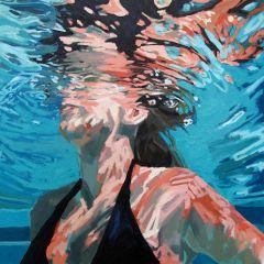 情侣头像一男一女水中