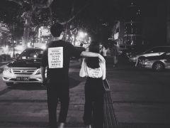 情侣背影头像简单