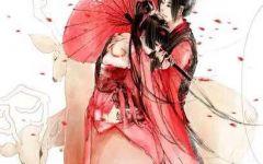 古风动漫情侣头像红衣
