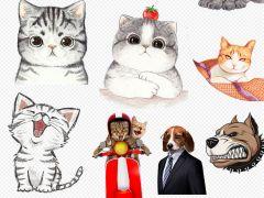 猫咪简单动漫可爱图片