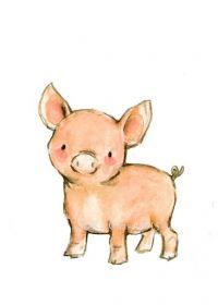小猪照片可爱图片手绘