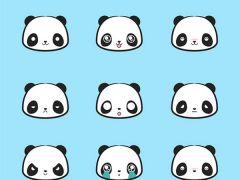 熊猫可爱图片头像卡通