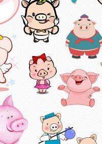 小猪动漫图片可爱图片大全