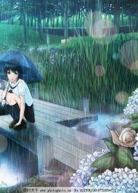 下雨动漫可爱图片大全