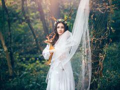 婚纱照唯美图片女