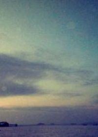 唯美伤感背影图带日出
