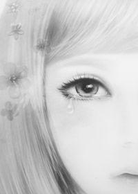 唯美黑白图片女生