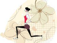 瑜伽图片唯美头像卡通