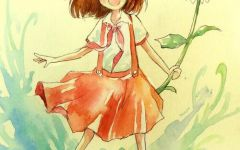 小清新唯美手绘少女图片大全
