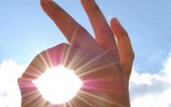 手指阳光唯美意境图片