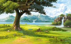唯美手绘图片风景