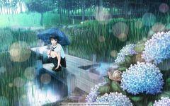 雨中打伞唯美图片动漫