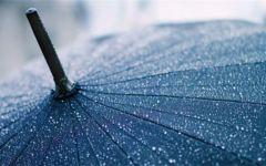 下雨天雨伞图片唯美