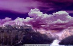 梦幻图片唯美紫色的