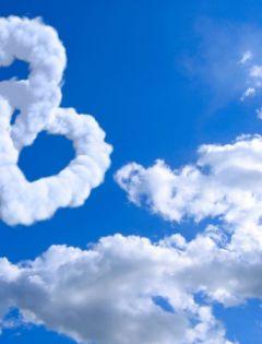 心形白云浪漫图片