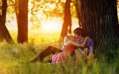恋人情侣接吻浪漫图片唯美