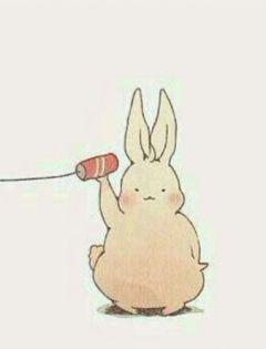 兔兔头像图片情侣