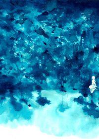 蓝色系唯美爱情图片