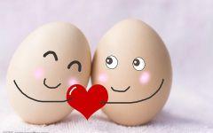 情侣鸡蛋可爱图片