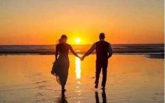 海边浪漫情侣图片唯美