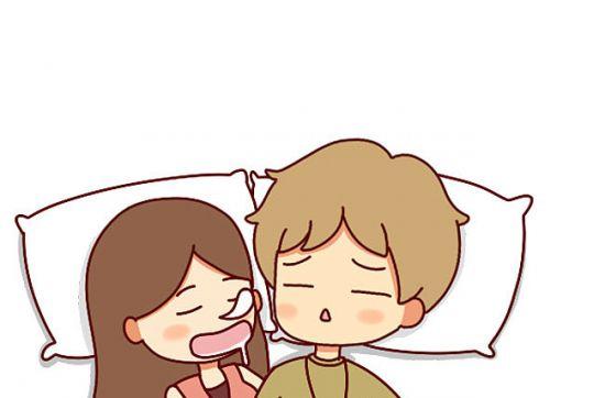 可爱卡通情侣睡觉图片