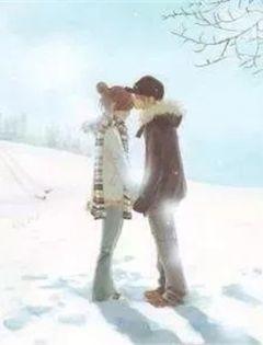 下雪天男女浪漫图片唯美