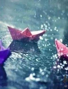 下雨天的浪漫图片带字图片唯美
