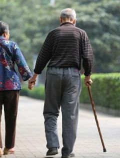 夫妻背影浪漫图片老人