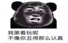 黑熊猫表情图片