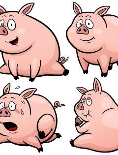 小猪表情图片