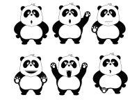熊猫再见表情图片
