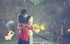 爱情图片下雨天