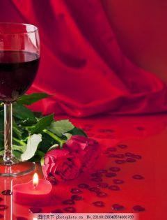 红酒家中浪漫图片大全
